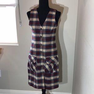 Rodi Rebel fall plaid cotton dress (M)